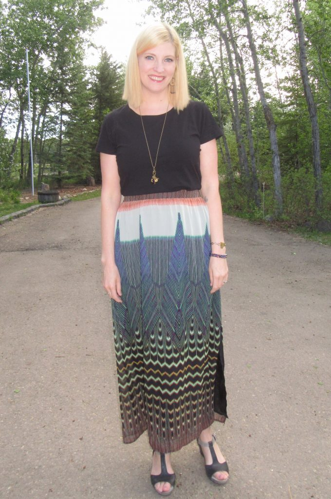 I love the print and colours of this skirt! I've already worn it and can think of so many styling options!