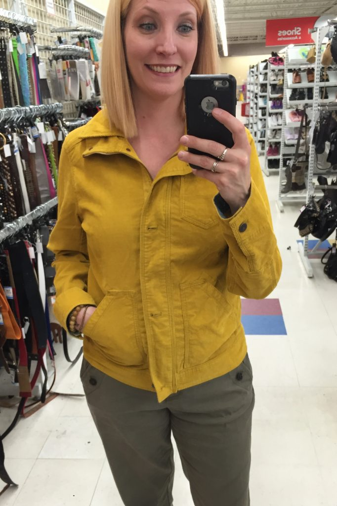 However, I do NOT have a mustard jacket of perfection!!  Eddie Bauer, in perfect condition for $10!  #comfort #selfcare