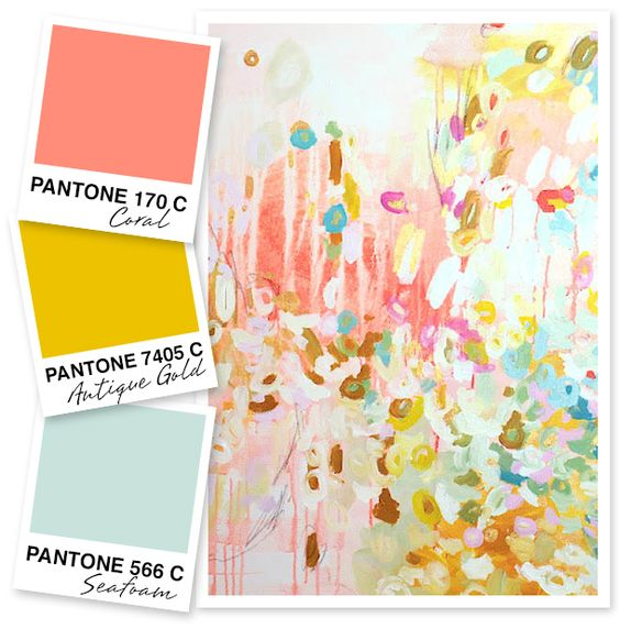 Now I want to redecorate a room in these colours.