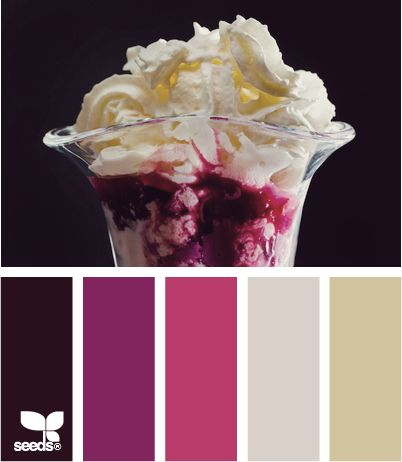 When researching taupe colour palettes, sundaes and donuts came up.  What's a girl to do?!