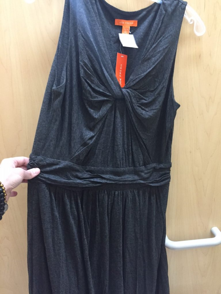 Another potential dress, another boob-area problem. It fit so funny I took it off before snapping a shot.
