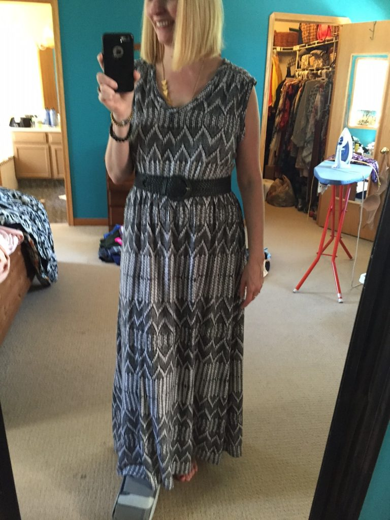 And look how good this maxi looks with a wide belt! You would never guess it feels like a nightgown!