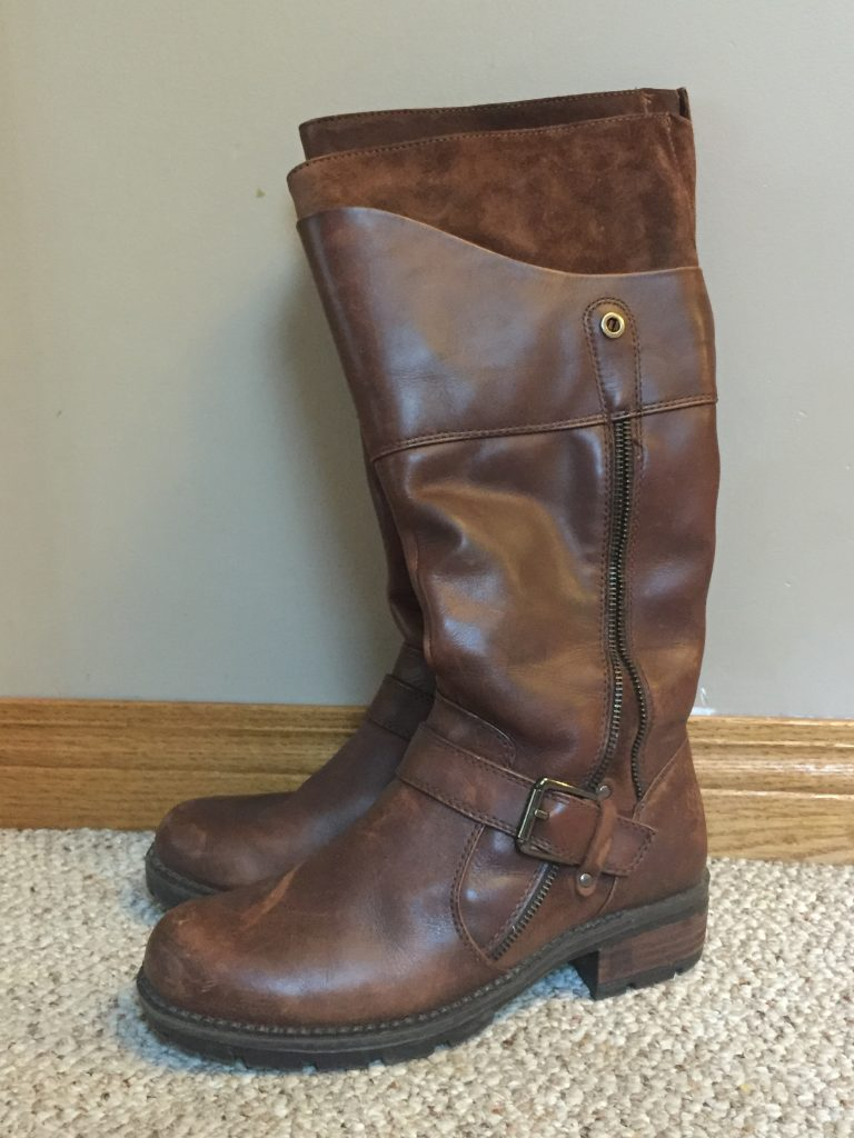 Blondo boots in new condition, $15 from Goodwill.