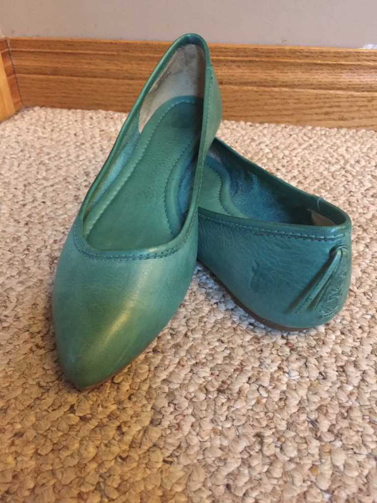 And these. FRYE TEAL flats, new, found on Kijiji for THIRTY DOLLARS! I wore these to Big Rig and was fine for the first hour and then had to hobble out.