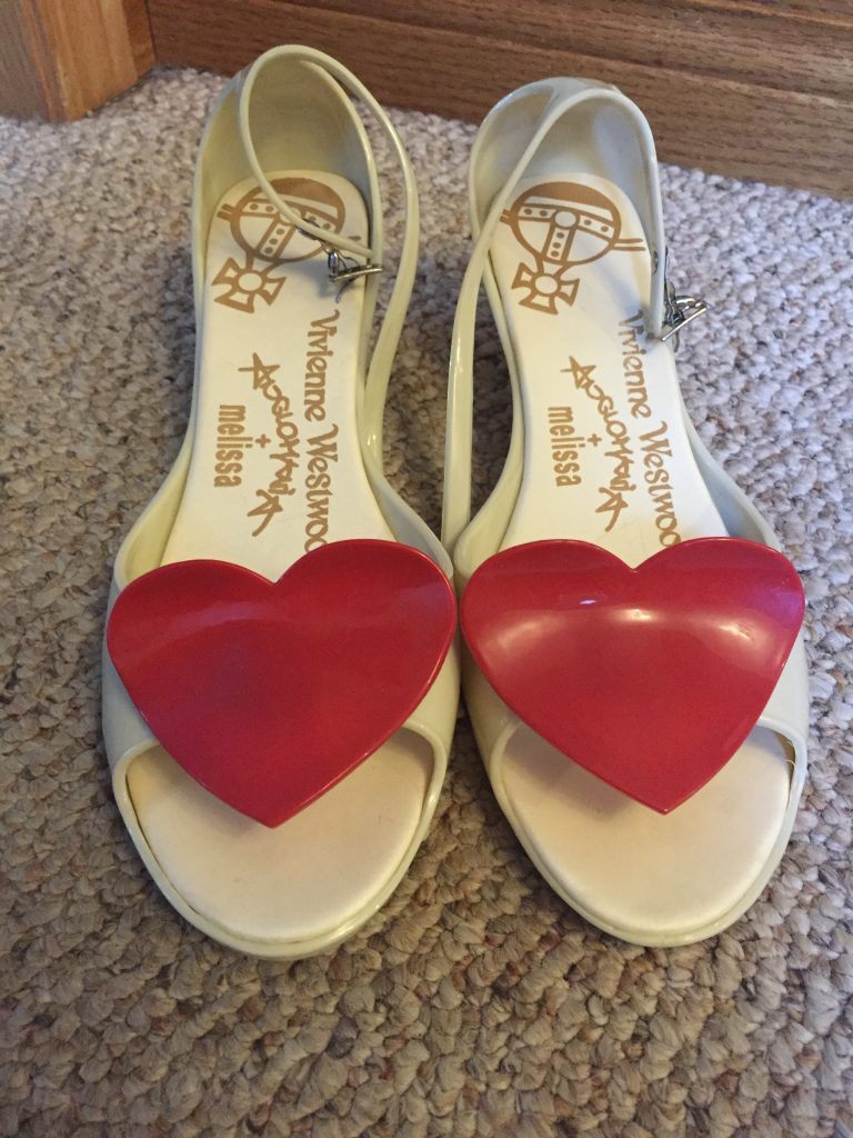 Okay, I can't wear these either quite yet but how could I leave these $15 Vivianne Westwood Melissas behind?!!
