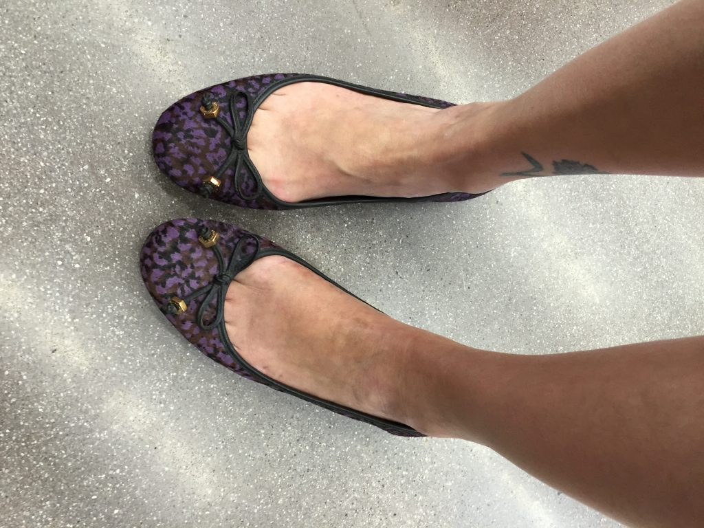 I also found these beautiful Marc Jacobs flats but they were just a bit big on me, which is why you thrift with people who wear a different size...
