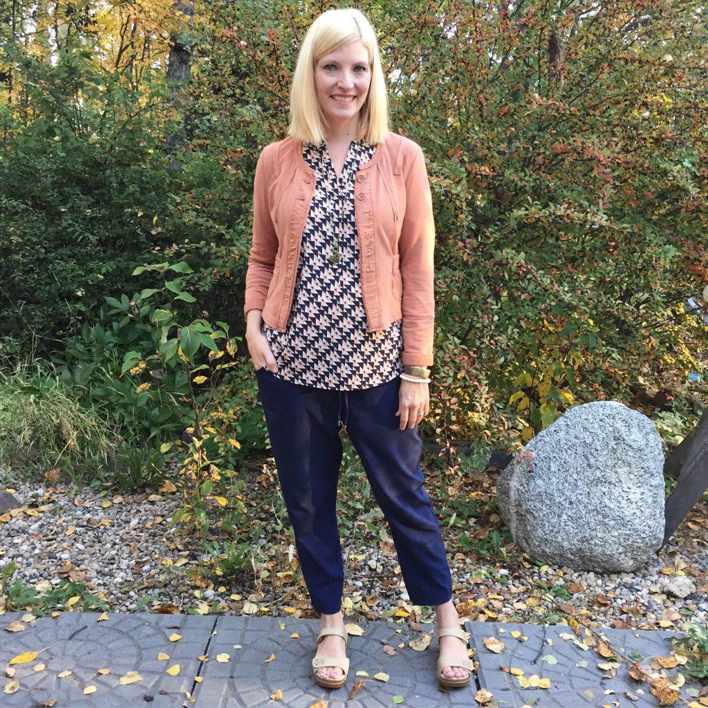 Not a bad ensemble for Talbots and Dansko!