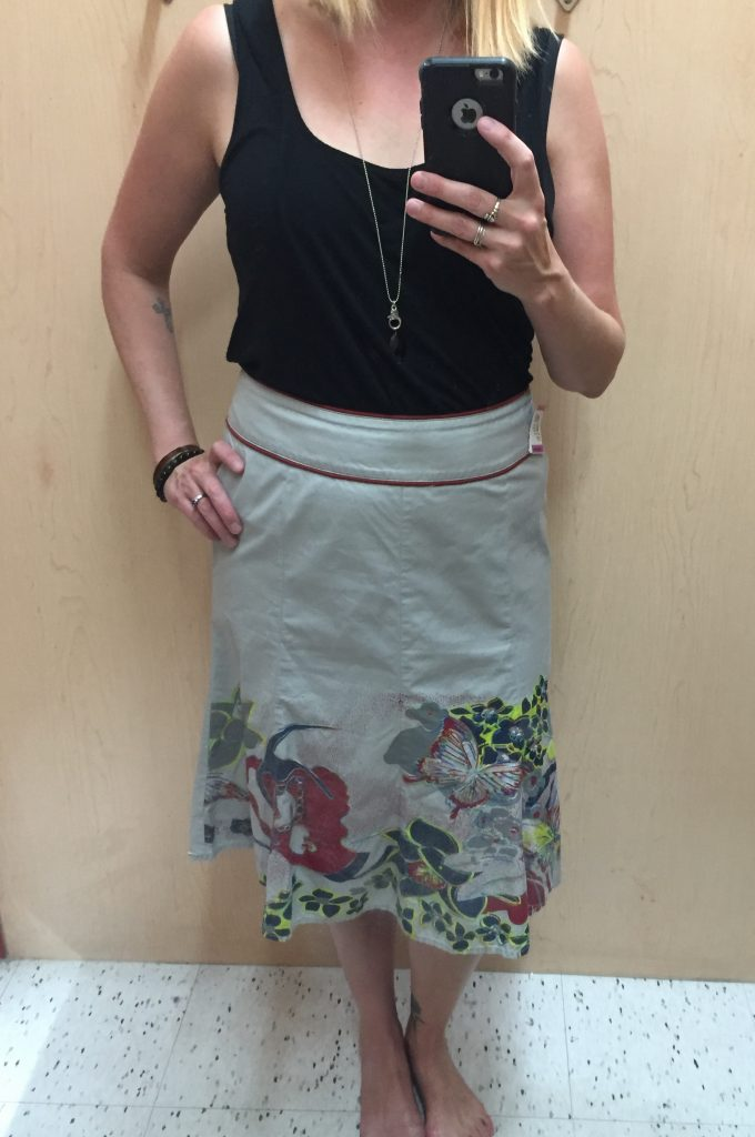 This Sandwich brand skirt also had potential to be special but was meh on.  Maybe I don't like applique type detailing??!
