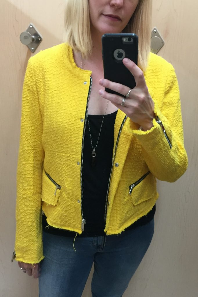 This blazer had potential as an above-average piece but came across more like big bird... which I guess is above average but not the way I'm looking for!
