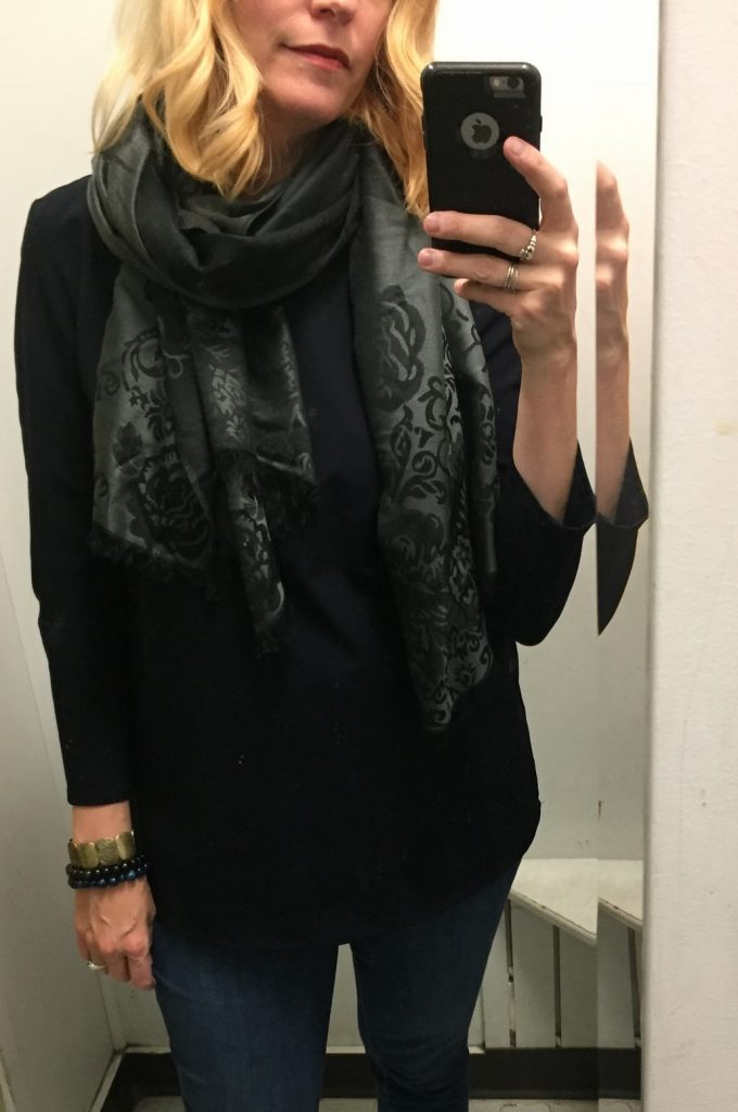 New-with-tags Cleo scarf for $5 - I love the black and grey!