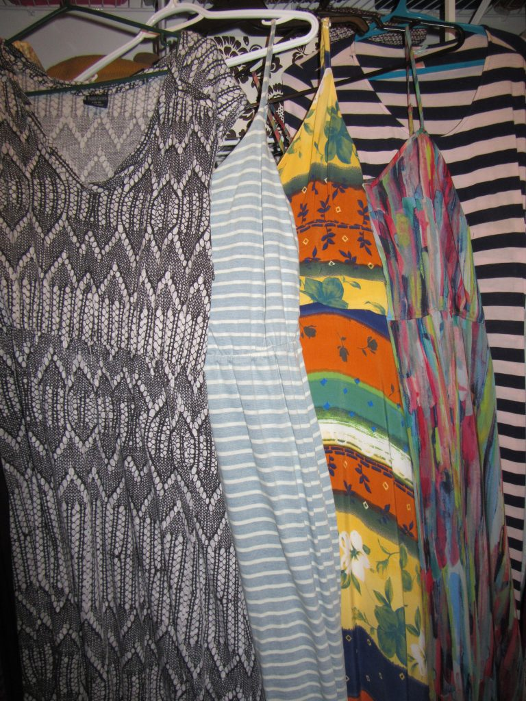 5 maxi dresses...