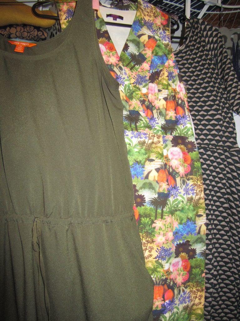 3 green-ish dresses...