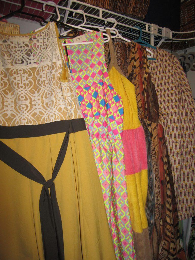 5 yellow-ish dresses...