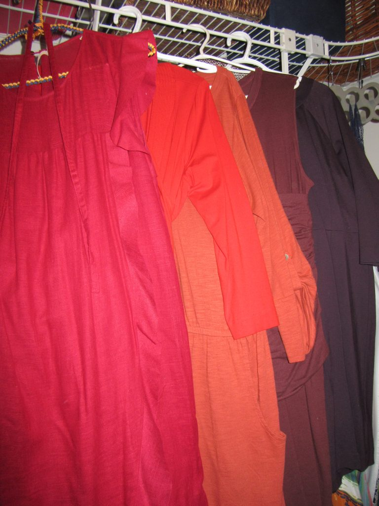 5 solid-colour red-ish dresses including my beloved Isabel Marant (no you cannot have it Adina!)