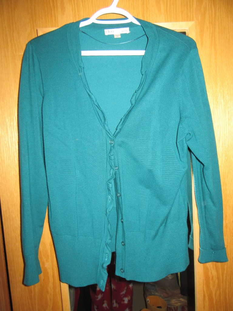 I will wear this teal cardi till it falls apart if it comes to that. The piece IS great but the wear is not. I will need to replace it, and sooner rather than later.