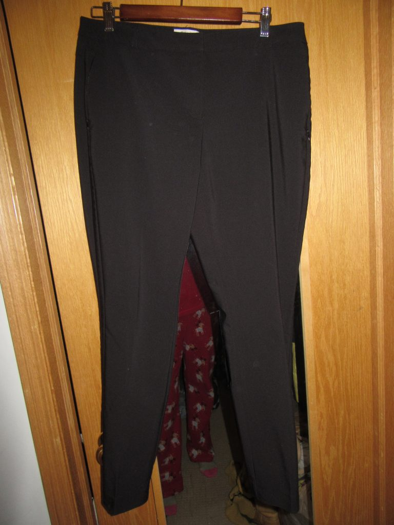Black pants! These are good, but they're a little big and tend to bag out by the end of the day. I am ever looking for a GREAT pair!