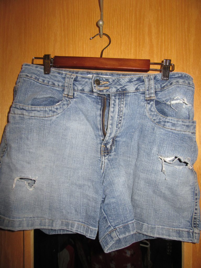 "Continuing on my ""good"" denim, I have actually moved these to the donation bag. I DIY distressed them and loved them but the distressing is starting to look a little unintentional. I think I can find another pre-distressed pair or do it again myself with a pair of denim shorts."