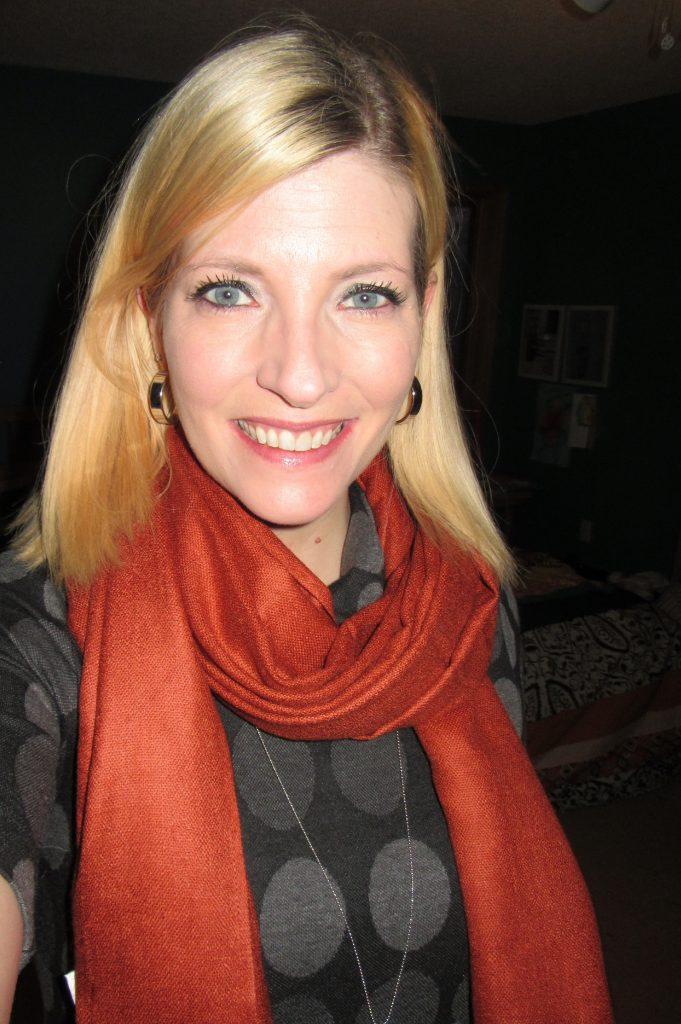 Rust pashmina/silk scarf $2.80