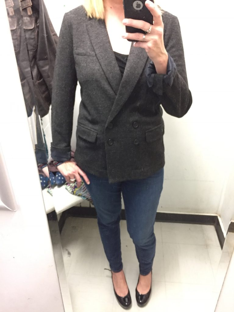 And Adina found this wool J Crew blazer for me! $8 of my favourite comfort colour!