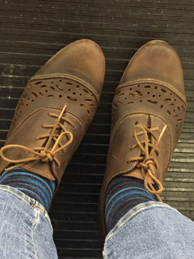 And just to round up the shoes, I also found these leather Neosens lace-ups for $6 - exactly what I was looking for! I hadn't heard of this brand but could tell they were great quality in great condition - turns out they too run about $300!!