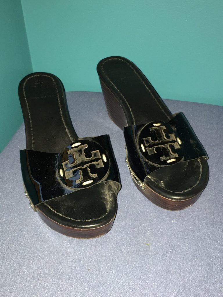 And then, just after telling Adina I always watch for a Tory Burch bag, she finds me a pair of Tory Burch slides! They need a little cleaning but otherwise are in great shape! $13.30 is a small price to pay for my first thrifted Tory Burch!