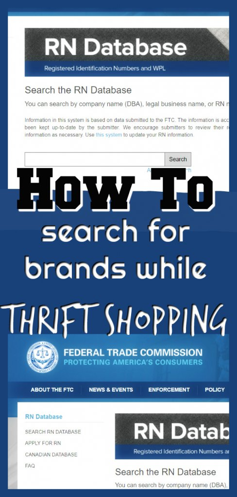 How to Search for Brands While Thrift Shopping #RNSearch #thrifting #thriftshopping #thrifter #reseller