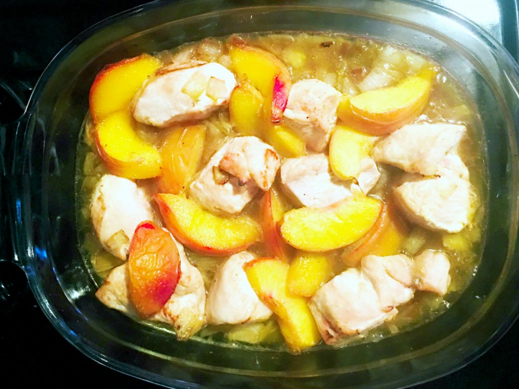 Baked Chicken With Peaches