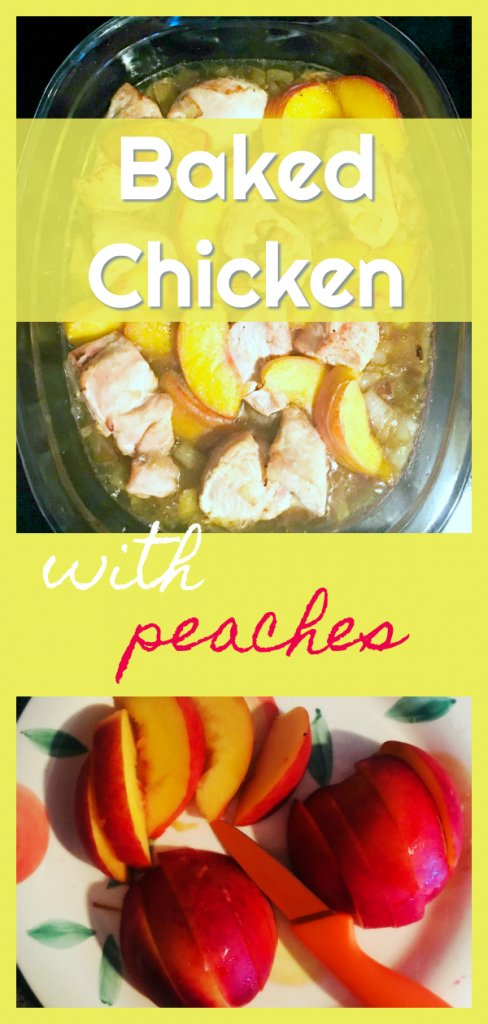 Baked Chicken With Peaches by The Spirited Thrifter