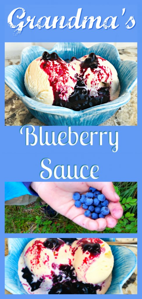 Grandma's Blueberry Sauce