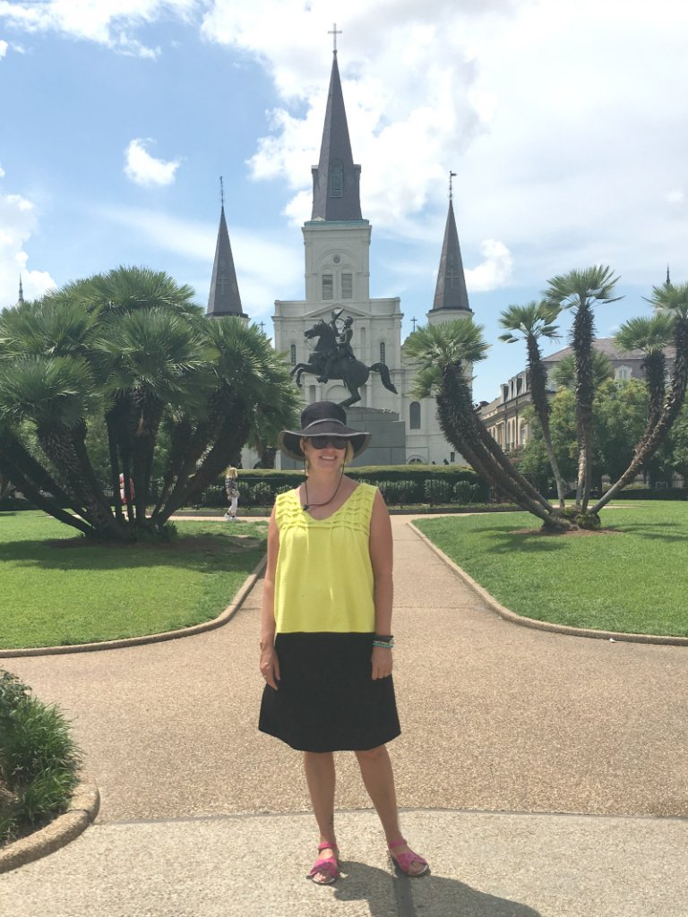 Wearing my fave travel clothing in New Orleans