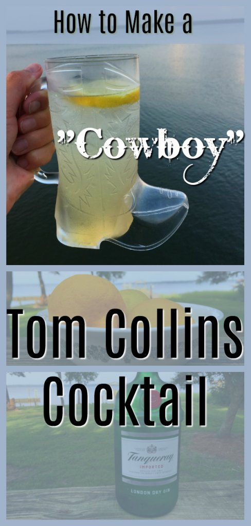 Cowboy Tom Collins Cocktail Recipe by The Spirited Thrifter