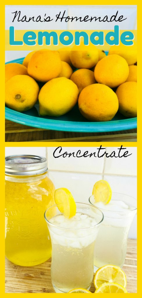 Nana's Homemade Lemonade Concentrate