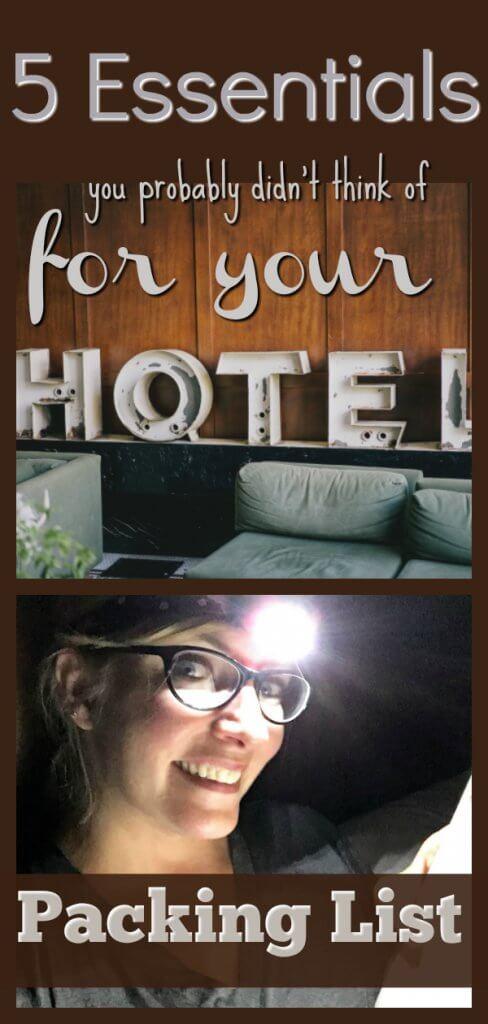 Packing List Essentials Hotel