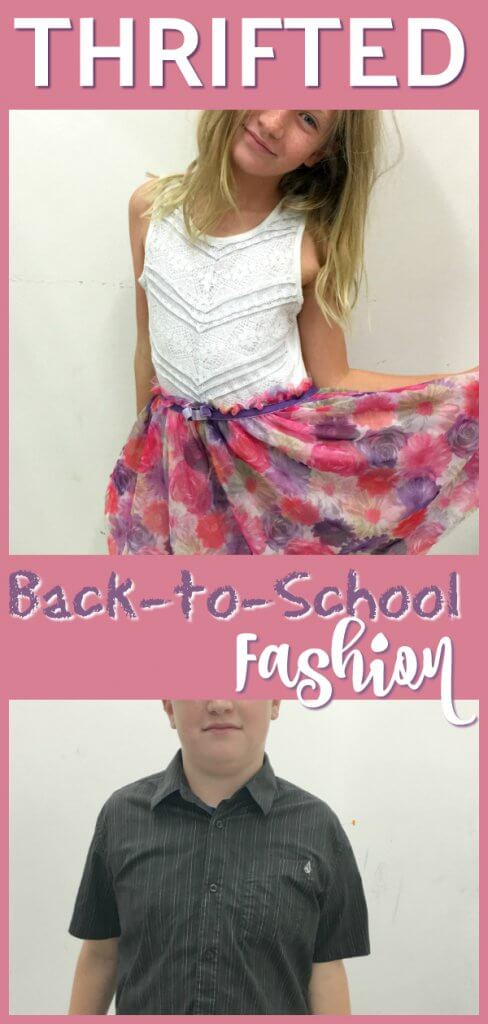 Thrifted Back-to-School Clothing