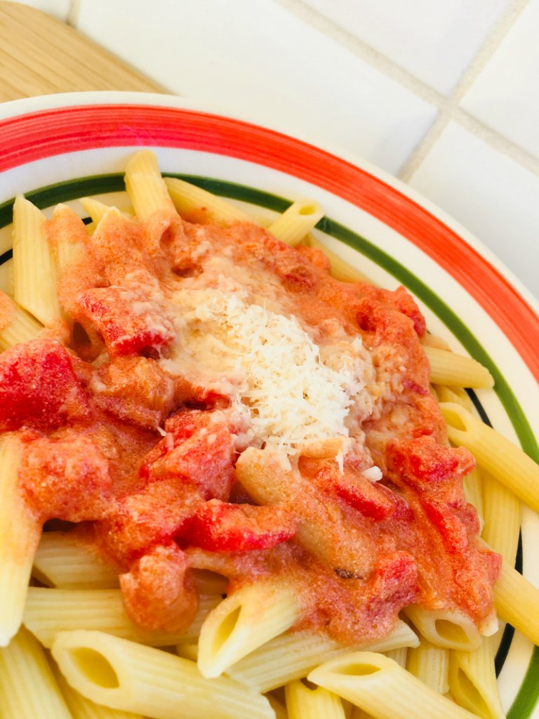 Vodka Sauce Recipe served with Penne
