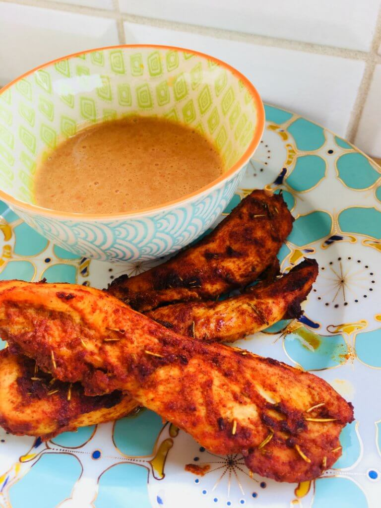 Chicken With Peanut Sauce Recipe by The Spirited Thrifter