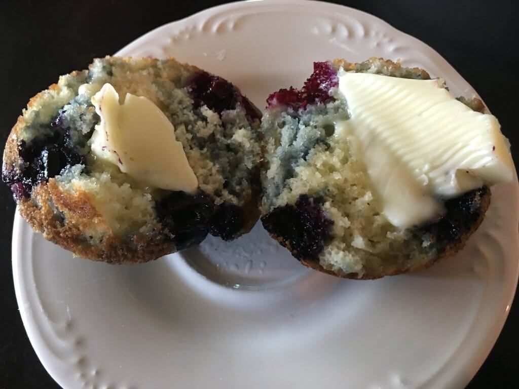 Blueberry Muffins Recipe by The Spirited Thrifter