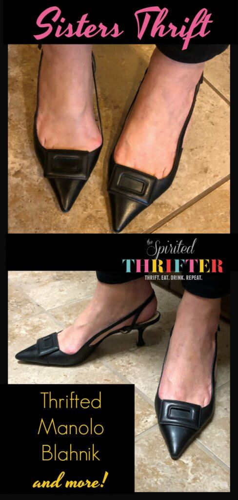 Sisters Thrift at KCM Resale Store #houstonthrift #thriftstore #thrifted #manoloblahnik