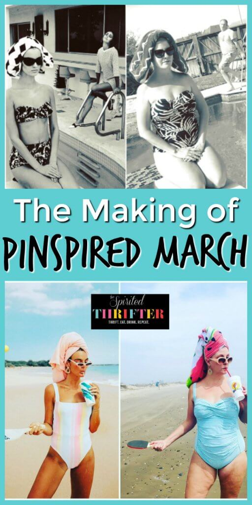 The Making of Pinspired March by The Spirited Thrifter #pinspiredmarch #thriftedfashion #thriftedootd