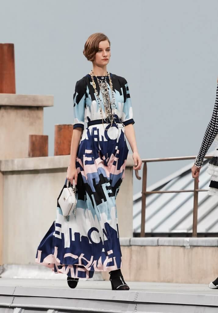 Chanel Spring 2020 printed dress